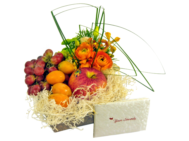Fruit Basket - Fruits and Flowers (E) - P7316 Photo