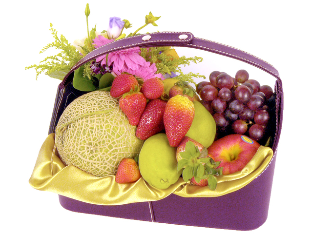 Fruit Basket - Fruits and Flowers (J) - P9430 Photo