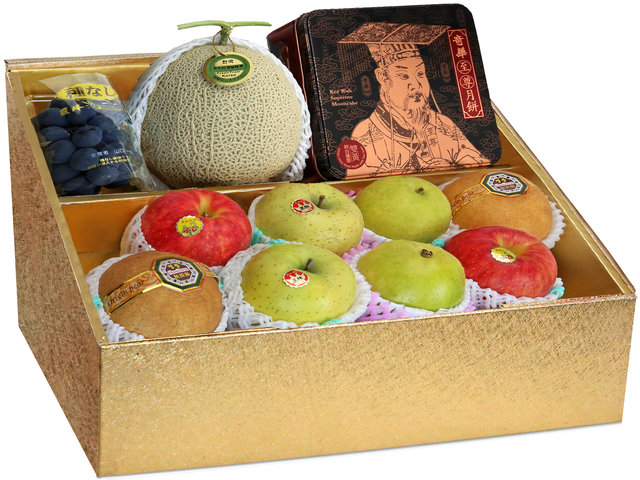 Fruit Basket - Mid Autumn Panorama KeeWah Moon Cake Fruits Gift Box M16 - 0DP0628A8 Photo