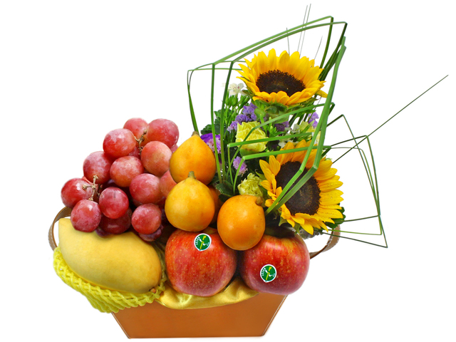 Fruit Basket - Mini Fruit Flower Basket 8 - L35033 Photo