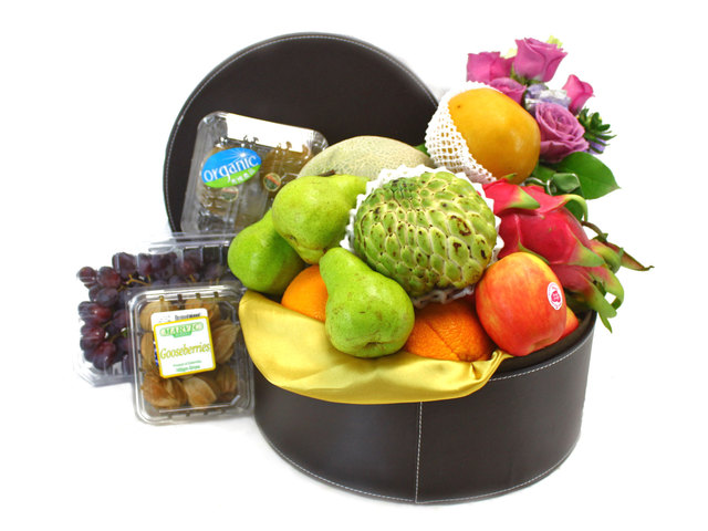 Fruit Basket - Practical leather fruit hamper 6 - L38207 Photo