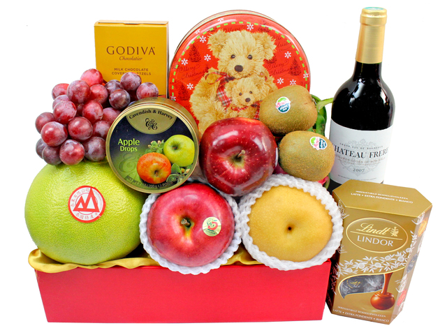 Fruit Basket - Wine Food Gift Hamper C20 - L3105730 Photo