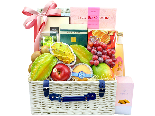 Fruit Basket - Wine Food Gift Hamper C32 - L106469 Photo