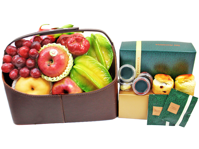 Fruit Basket - Wine Food Gift Hamper C39 - L179672 Photo