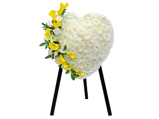 Funeral Flower - Full Closed Heart Stand 27 - L76600774 Photo