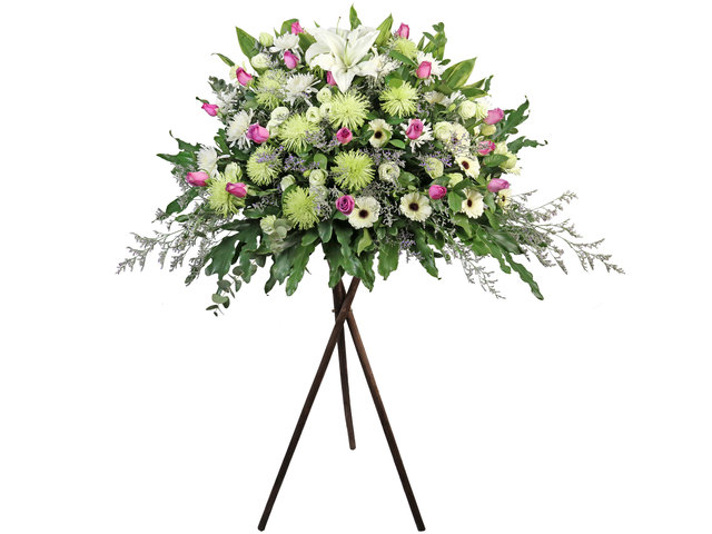 Funeral Flower - Funeral  florist Stand BA10 - L1971 Photo