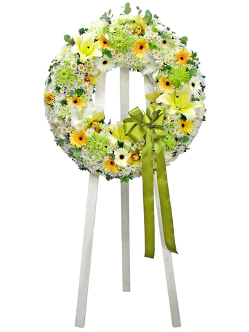 Funeral Flower - Funeral Wreath 10 - L154122 Photo
