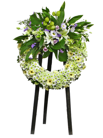 Funeral Flower - Funeral Wreath 5 - L11629 Photo