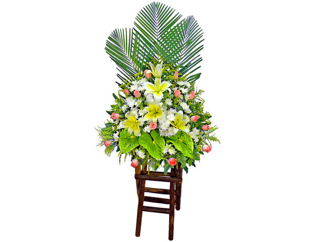 Funeral Flower - Funeral flower basket  BA11 - P9141 Photo