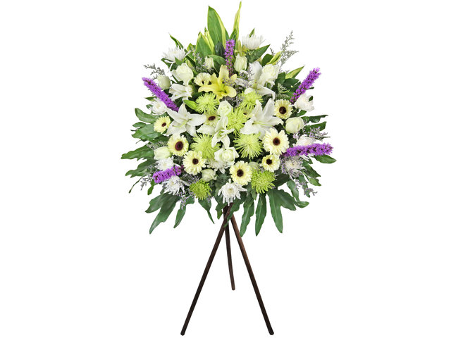Funeral Flower - Funeral flower stand BA12 - L3100 Photo