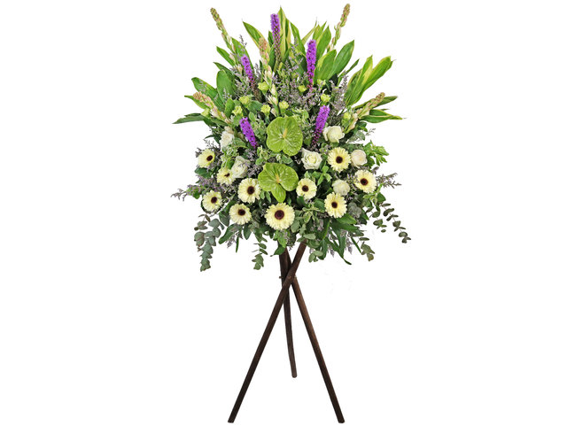 Funeral Flower - Funeral flower stand F8 - L1611 Photo