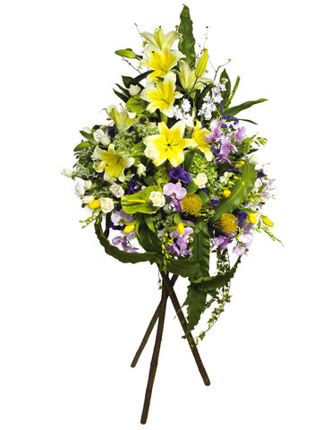 Funeral Flower - Funeral flower stand X - L05529 Photo