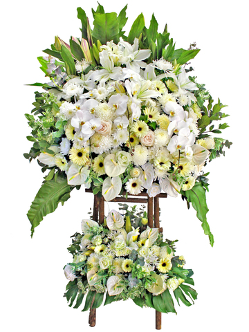 Funeral Flower - Large Funeral Flower Stand G3 - L174993 Photo