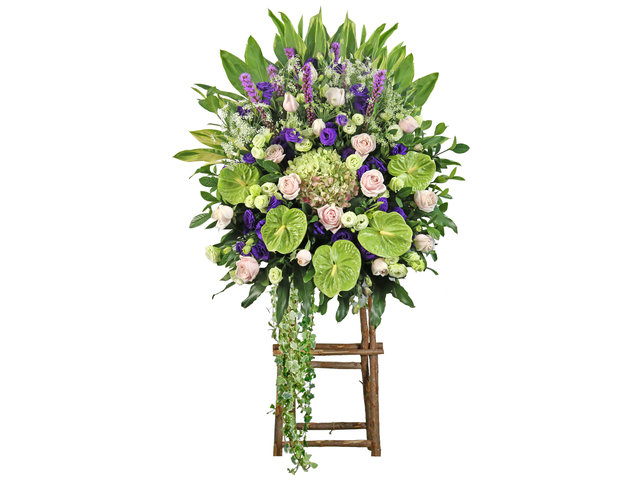 Funeral Flower - Opening florist Basket E15 - L1813 Photo