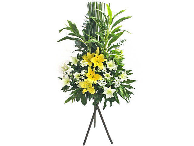 Funeral Flower - Value Memorial Flower Basket 9 - L50434 Photo