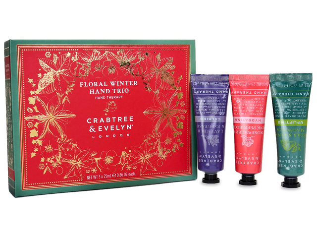 Gift Accessories - Crabtree & Evelyn Floral Winter Hand Trio - SE0124A3 Photo