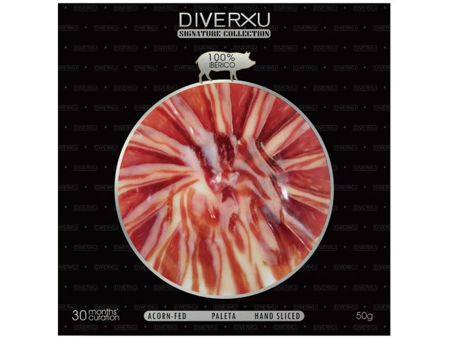 Gift Accessories - Diverxu Hand-Sliced 100% Iberico Shoulder Ham (Acorn), At Least 30 Months Curation 50g - HR0427A5 Photo