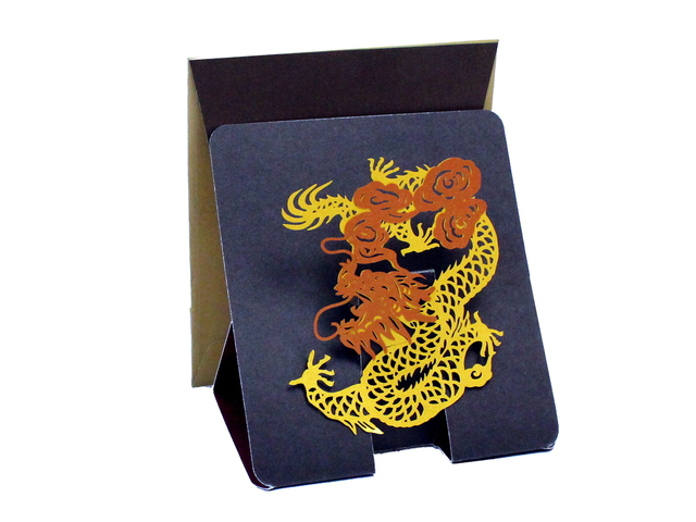 Gift Accessories - Hong Kong Pop-up Greeting Card(Small) - Golden Dragon (A) - L181557 Photo
