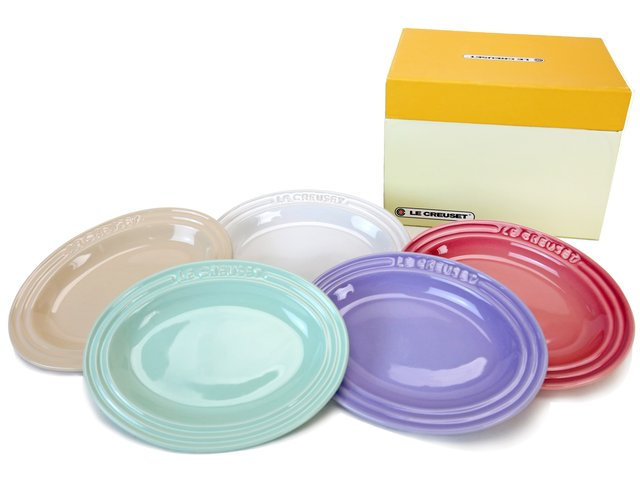 Gift Accessories - Le Creuset Mini Oval Plate Set of 5 - LY0129A5 Photo