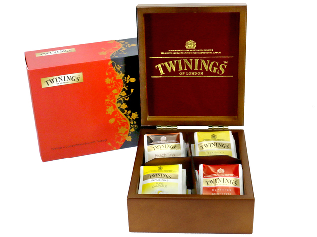 Gift Accessories - Twinings 4 Compartment Box with Teabags - L36667642 Photo
