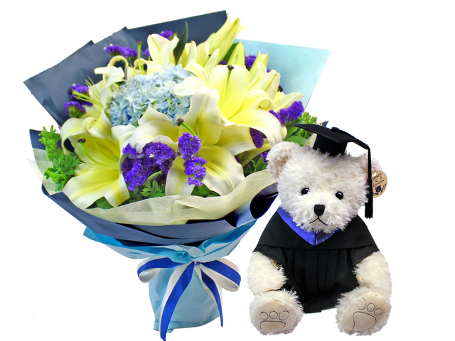 Graduation Flower n Gift - Graduation Flower Teddy Combo 3 - L1179554 Photo