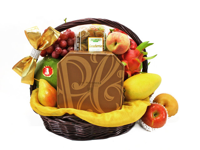Mid-Autumn Gift Hamper - (1) Mid Autumn Fruit Basket - Peninsula Mooncake - L40661 Photo