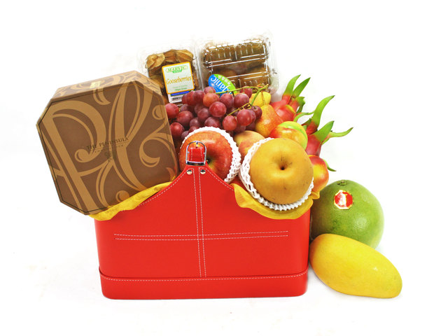 Mid-Autumn Gift Hamper - (6) Mid Autumn Fruit Basket  - Hotel Peninsula Mooncake - L40639 Photo