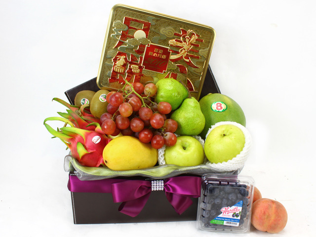 Mid-Autumn Gift Hamper - (9) Mid-Autumn Maxim Moon Cake Friut Gift Hamper - L11433 Photo