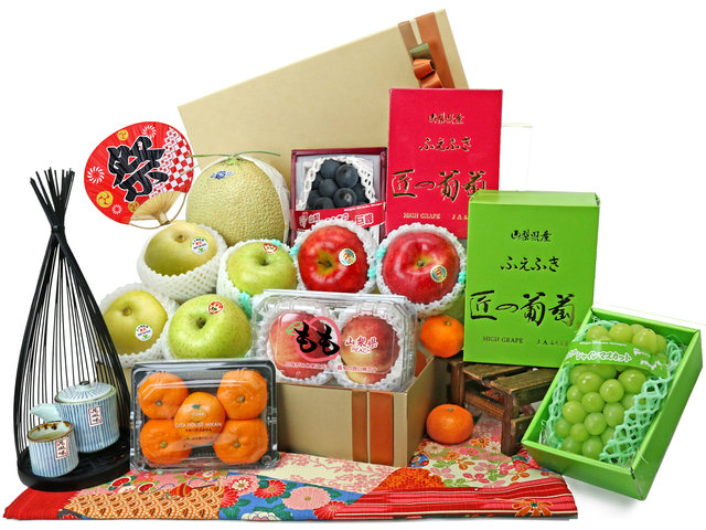 Mid-Autumn Gift Hamper - Japanese luxury fruit gift basket M64 - L76607912 Photo