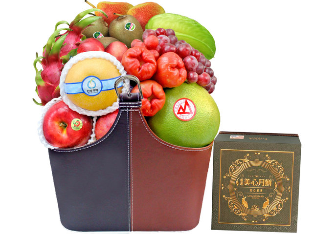 Mid-Autumn Gift Hamper - Maxim's Lava Custard Mooncake basket P35 - L3105977C Photo
