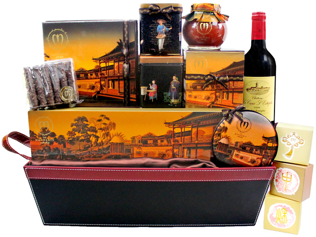 Mid-Autumn Gift Hamper - Mid Autumn Fruit Basket Mandarin Oriental Hotel - Wine Food Hamper M60 - L3125567 Photo