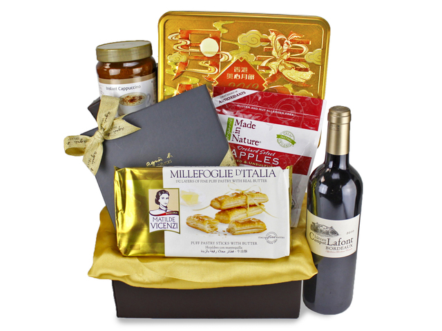 Mid-Autumn Gift Hamper - Mid-Autumn Maxim Moon Cake Fruit Gift Basket H2 - L89613 Photo
