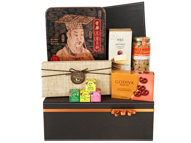 Mid-Autumn Gift Hamper - Mid autumn mailable moon cake basket A19 - MM0615A1 Photo
