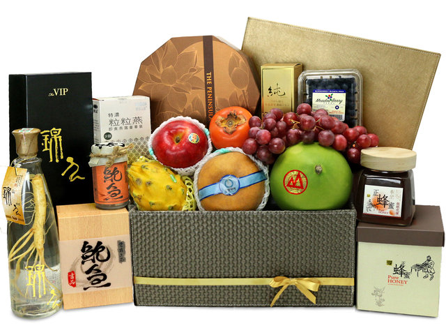 Mid-Autumn Gift Hamper - Peninsula mooncake mid-autumn basket  Z12 - L76608855 Photo