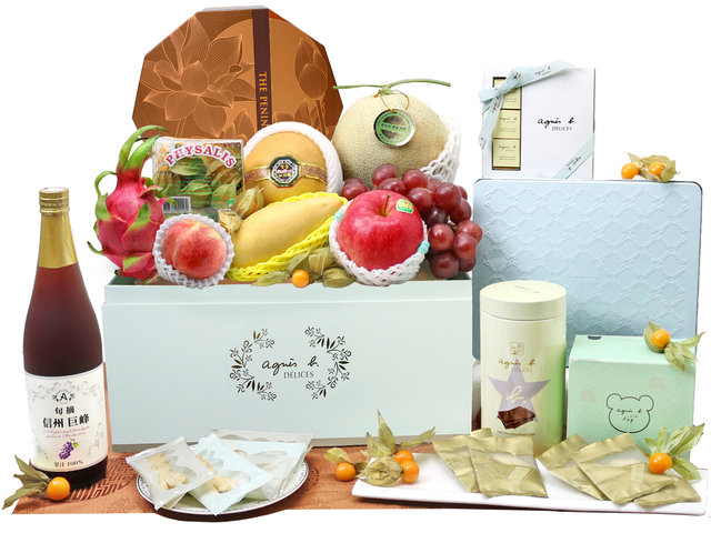 Mid-Autumn Gift Hamper - agnes b. Mid Autumn mooncake Fruit Hamper M48 - L76607608 Photo