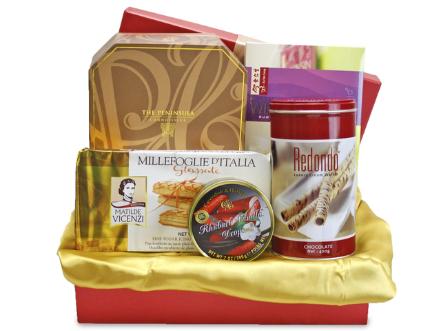 Mid-Autumn Gift Hamper - mailable worldwide - (6) ShopThurPost - Mid Autumn Mooncake Fruit Hamper - L90263 Photo