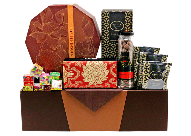 Mid-Autumn Gift Hamper - mid autumn mailable moon cake basket A10 - L76601573 Photo