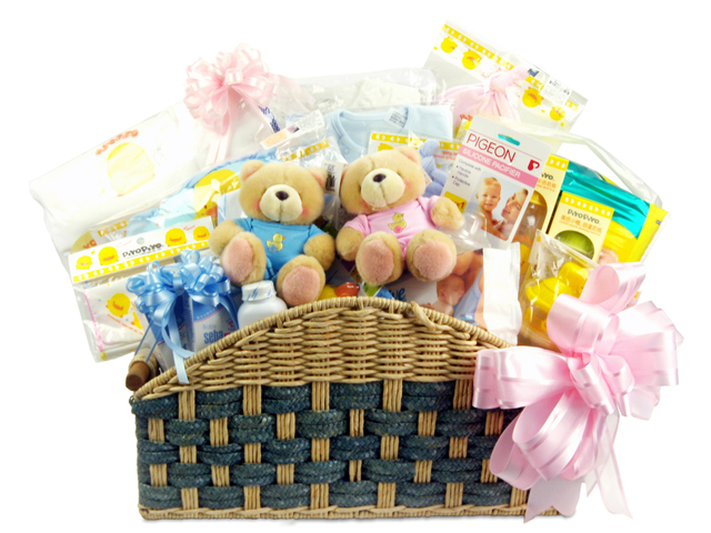 New Born Baby Gift - BB Basket (Twins) (A) - P2000 Photo