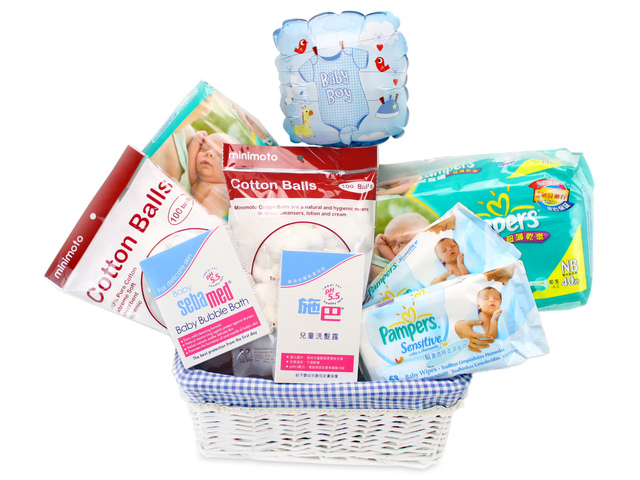 New Born Baby Gift - Baby Dispensary Gift Basket 6 - L37762 Photo