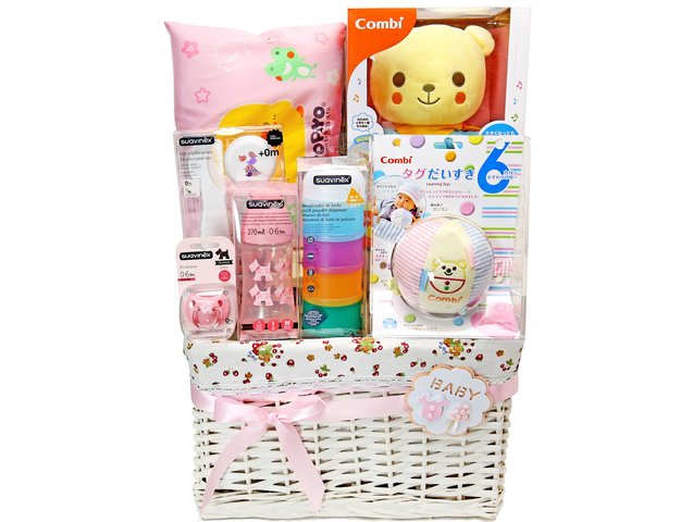 New Born Baby Gift - Baby Gift Basket 4A3 - BY0404A3 Photo
