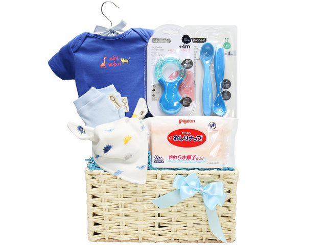 New Born Baby Gift - Baby Gift Basket C1 - BY0708A9 Photo