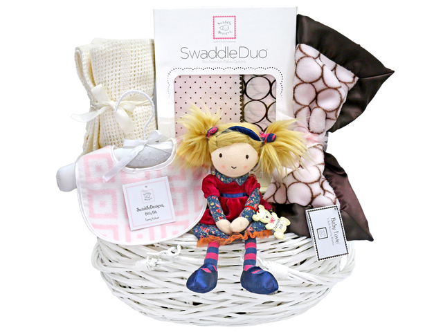 New Born Baby Gift - Baby Gift Basket z14 - L36668100 Photo