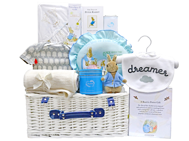 New Born Baby Gift - Baby Gift Basket z16 - L36668037 Photo