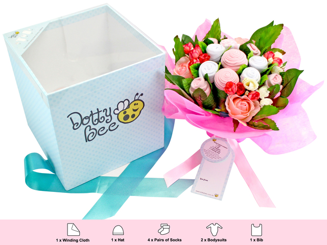 New Born Baby Gift - Dotty Bee  Baby Gift Bouquet (Girl) - L116618 Photo