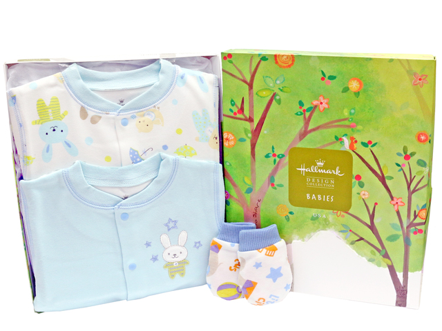 New Born Baby Gift - Hallmark baby clothes gift set - L36668696 Photo