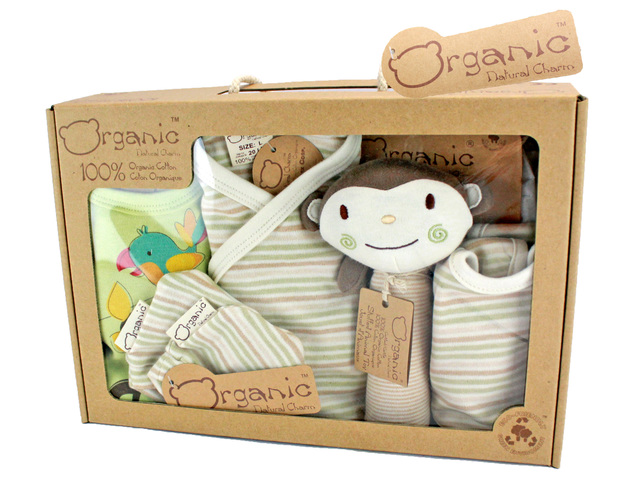 New Born Baby Gift - Natural Charm Organic Cotton Baby Gift Set - L70607 Photo