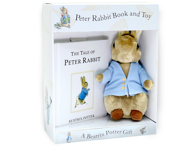 New Born Baby Gift - Peter Rabbit book and toy gift box - L36668565 Photo