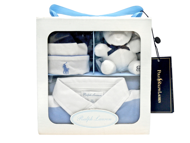New Born Baby Gift - Polo Ralph Lauren premium baby 3-piece gift set - L36667877 Photo