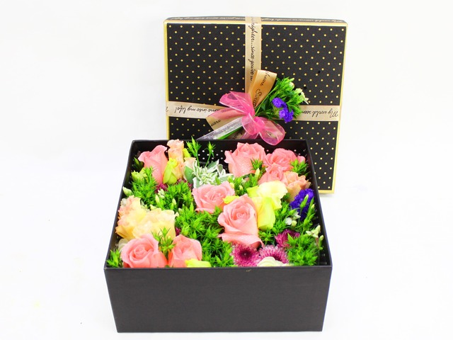 Order Flowers in Box - Box Flower 3 - L09601 Photo