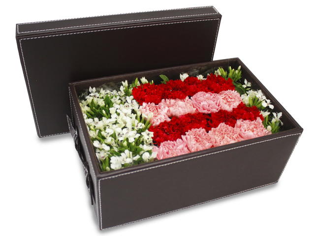 Order Flowers in Box - Carnation Box Flower - L82102 Photo